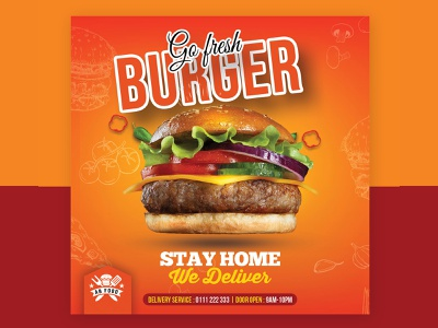 Burger Restaurant Flyer menu lunch kitchen gourmet gastronomy food flyer fast food dinner cuisine cooking cook cold coffee classic chef card business burger blue