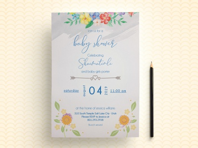 Baby Shower Invitation Flyer girl flags flag first birthday family cute christening children child celebration card blue birthday invitation birthday birth baptism baby shower baby anniversary adoption