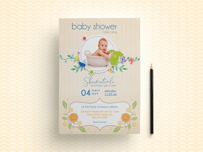 Baby Shower Invitation Flyer sister purple polka dot pink party invitation party newborn new parents new addition invitation green celebration brother bridal shower blue birthday invitation birthday baby shower baby on the way adoption