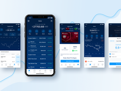 CRYPTO.COM WALLET & CARD APP wallet ux ui sell motion interaction icons graphics exchange design currency cuberto buy app crypto