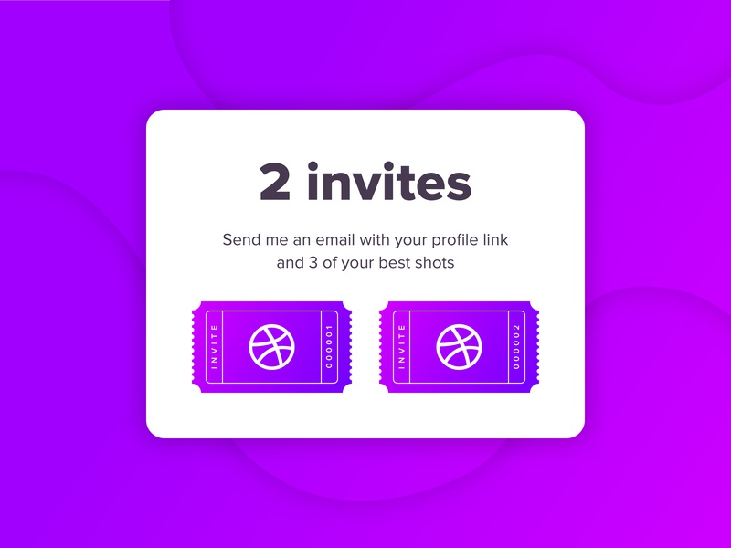 Two Dribbble Invites dribbbleinvite draft invite invitation giveaway dribbble