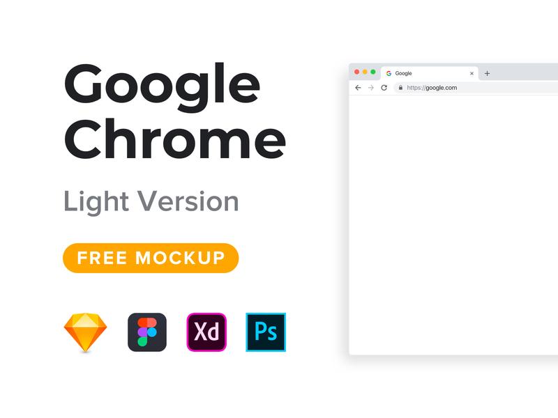 Google Chrome Mockup Freebie (Light Version) adobe photoshop photoshop adobe xd figma sketch browser freebie free mockup chrome google