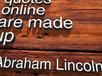 Marketing Musing Wood - Lincoln