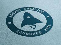 Rocket creative letterpress