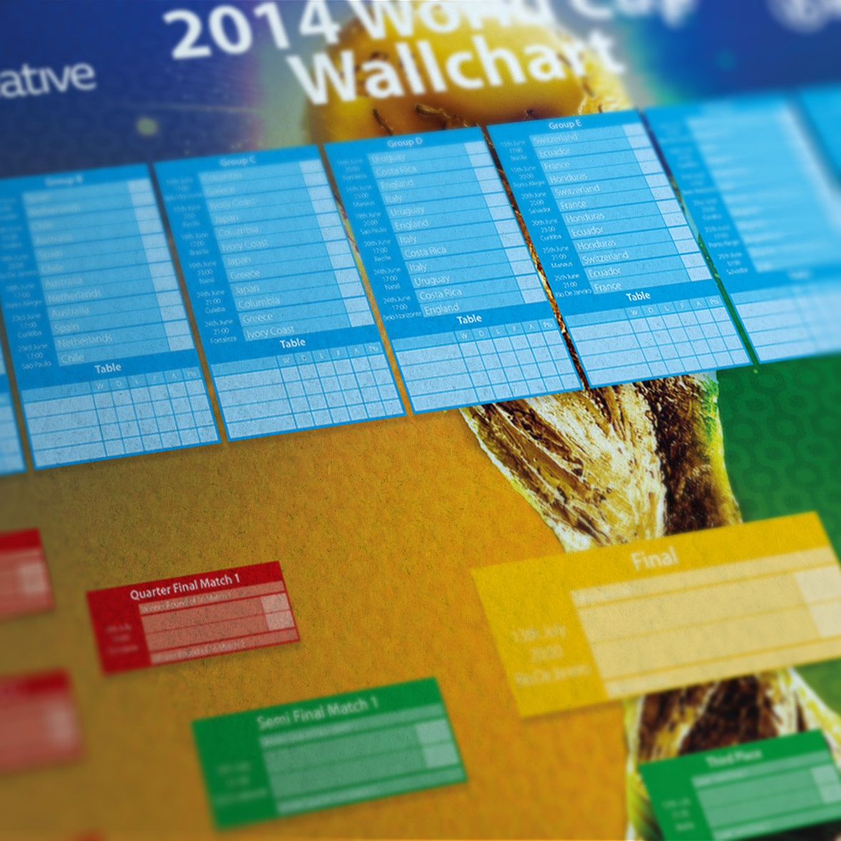 World cup wallchart
