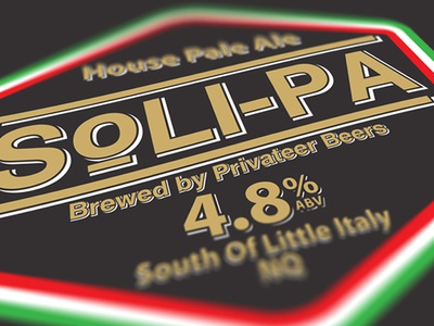 Soli-PA Beer Pump Label