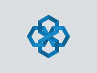 Interlocking Hexagon Logo