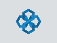 Interlocking Hexagon Logo logo brand hexagon shape