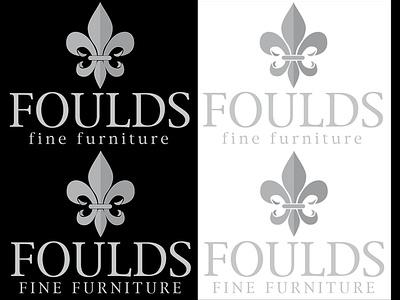 Foulds Fine Furniture Logo Design logo furniture fleur-de-lis design