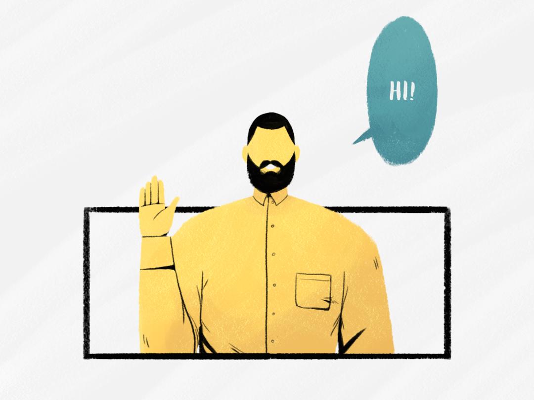 Hello there! geometric portrait motion graphics animation design illustration