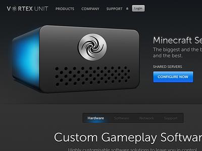 Minecraft Hosting web servers photoshop psd html css js javascript minecraft design web design web development