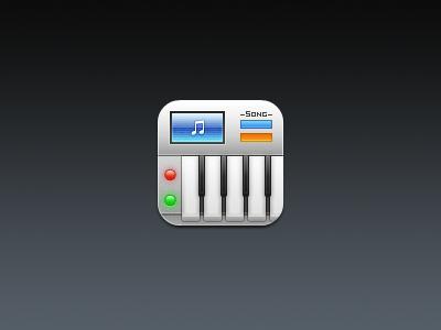 Music. music piano keyboard lights screen note keys buttons