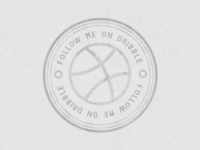 Dribbble Stamp photoshop dribbble stamp textures follow me lol