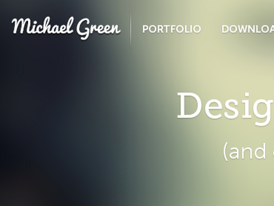Stolen Identity. michael green site portfolio text shadow museo css3 transitions links web html5