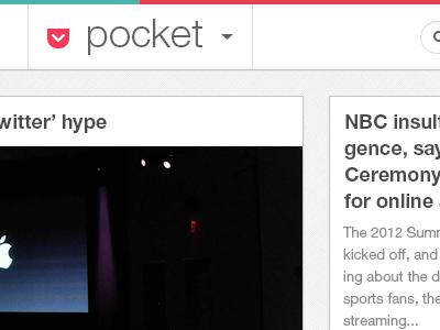 Pocket pocket web app redesign reskinning colours html css website readitlater articles tools toolbar