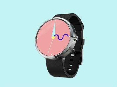 Bauhaus Inspired Smartwatch Face Concept smartwatch