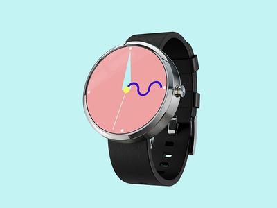Bauhaus Inspired Smartwatch Face Concept smartwatch