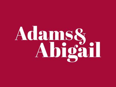 Day 7: Adams & Abigail Mark dailylogochallenge logo challenge logo type logo