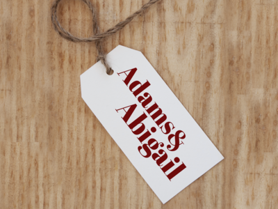 Adams And Abigail identity brand apparel branding