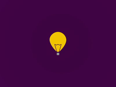 Day 2: Skydea dailylogochallenge logo idea light bulb light balloon hot air balloon