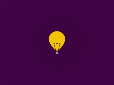 Day 2: Skydea dailylogochallenge logo idea light bulb light balloon hot air balloon