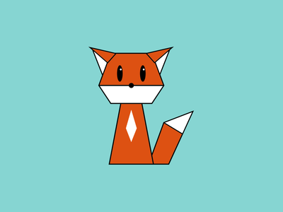 Fox animal fox geometric illustration logo daily logo challenge