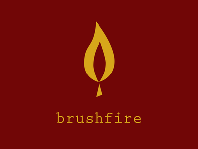 Brushfire match fire flame daily logo challenge logo