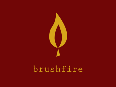 Brushfire match fire flame daily logo challenge logo