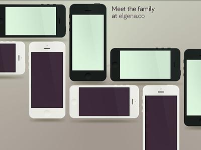 The family's all here. minimus mockup iphone apple subtle product mockup david elgena