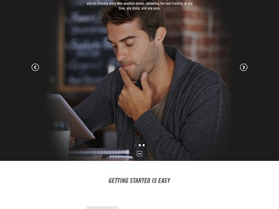 MG [WIP] website landing page marketing red ui ux