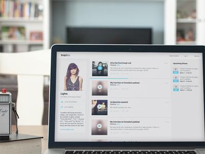 Rumble rumble ui web design app music player artist ux