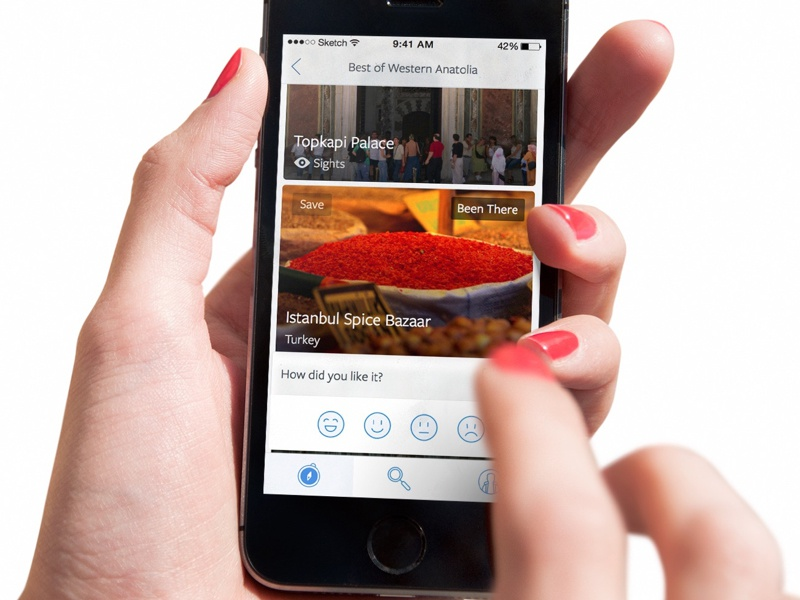 The whole world, crammed into a phone. travel company app publishing travel app design ios iphone