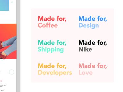 Brands will make her dance... tags app web color exploration design brand