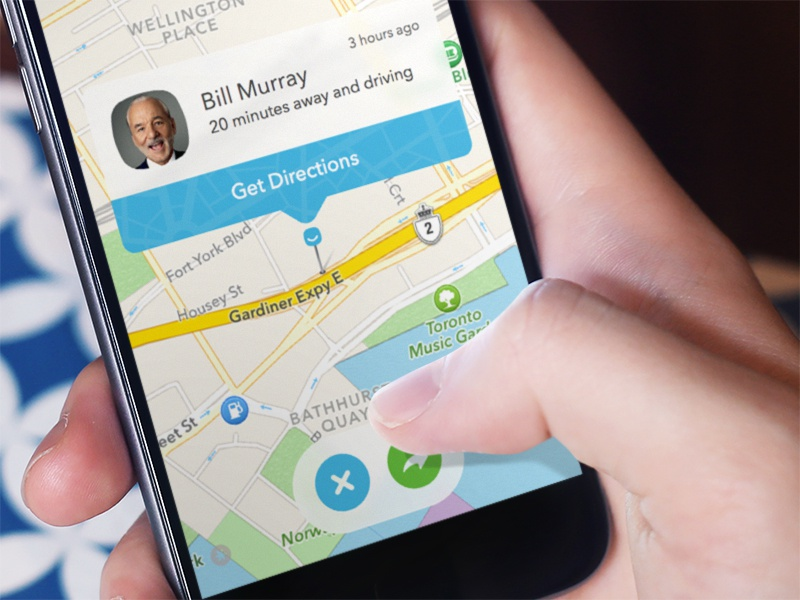 Where you at Bill? pin map location waya app iphone design mobile ux ui