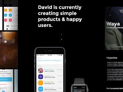 One of those internet things... apps layout interface uiux web design portfolio personal website