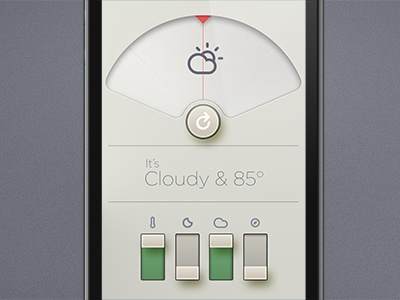 Dieter meets Adam Whitcroft in a heavenly embrace. climacons adam whitcroft dieter rams ui weather app weather app icons weather icons