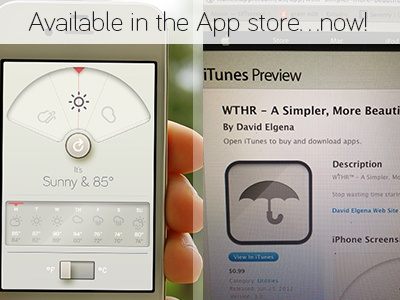 WTHR™ - In the App store now! For realz! weather wthr app ui dieter dieter rams rams kelvin celsius brisk temperature adam adam whitcroft climacons