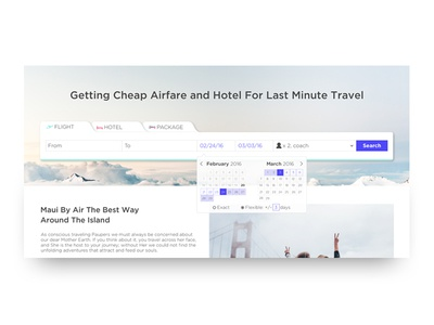 Choosing Dates for Travel