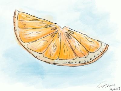 Orange doodling