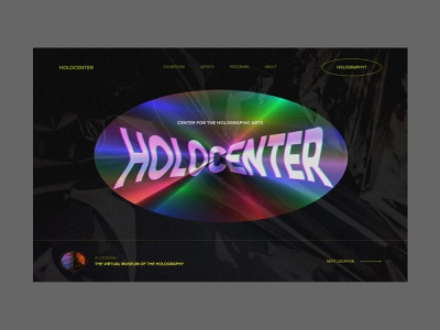 Holographic Art Center Website bright colors texture magical vibrant exhibition gallery homepage holographic art web design website zajno