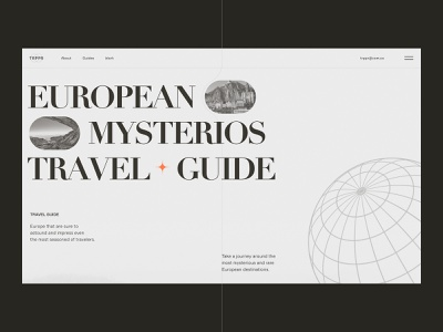 Travel Guide To Mysterious Europe web design