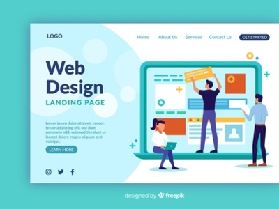 I will do website development, web design with wordpress illustrations illustration gig buisness entrepreneur responsive design wordpress website landing page design elementor elementor-pro design