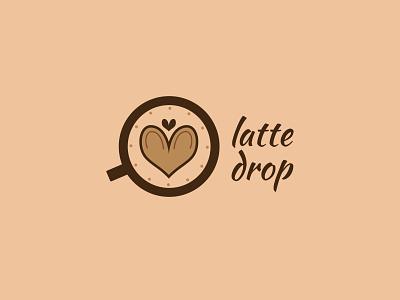Latte Drop brandmark colour colours unique minimal symbol wordmark logomark logotype brand identity graphic design brand app icon typography vector branding ui logo design