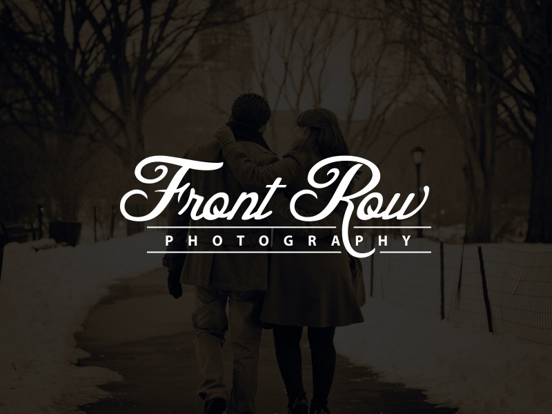 Front Row Photography Logo clean simple typography camera photographer photography designers designer design logo