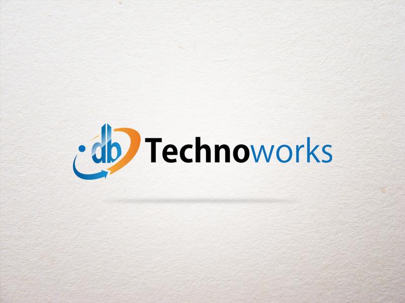 DB Technoworks Logo simple creative business company blue techno tech technology designers designer design logo