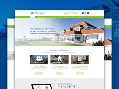 Property Services and Management Website Design template designers designer design web website management services hourse home property