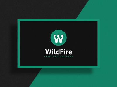 WildFire Logo Design template spark dark mobile app letter designer design logo
