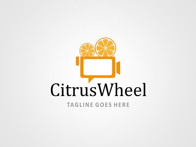 Citrus Wheel - Logo Design Template online logo maker logo maker professional logo designers logo designers download logo design simple logo design citrus wheel logo design citrus wheel logo movie logo design media logo design
