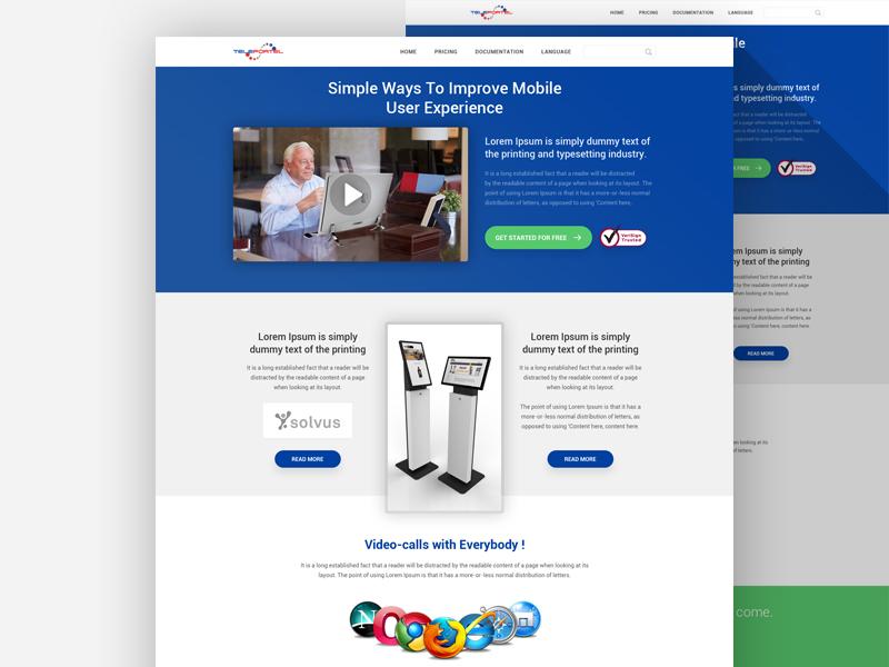 Landing Page Design website designer design interface web ux ui template landing page