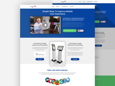 Landing Page Design website designer design interface web ux ui template landing page